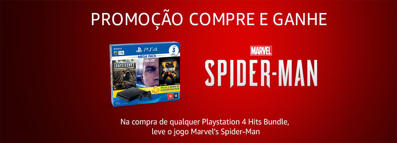 Compre um Console V5.1 e ganhe um jogo Marvel Spider Man