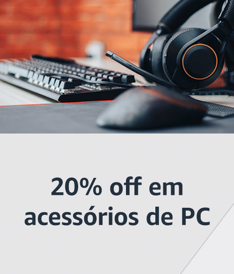 20% off em acessórios de PC