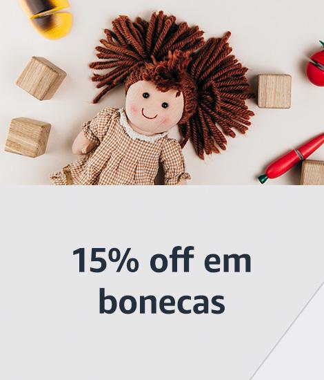 15% off em bonecas