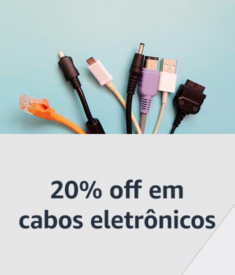 20% off em cabos eletrônicos