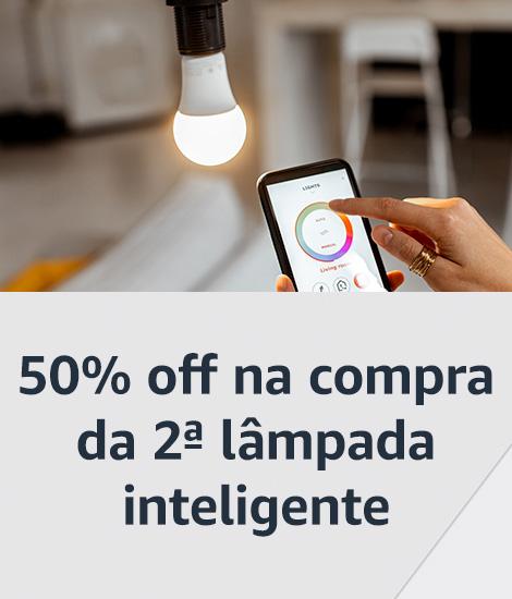 50% off na compra da 2ª lâmpada inteligente