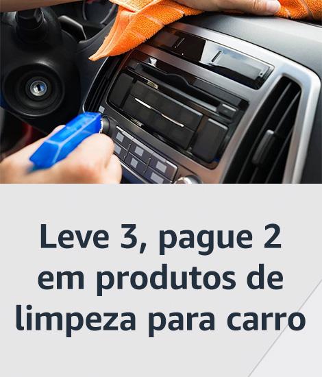 Leve 3, pague 2 em produtos de limpeza para carro
