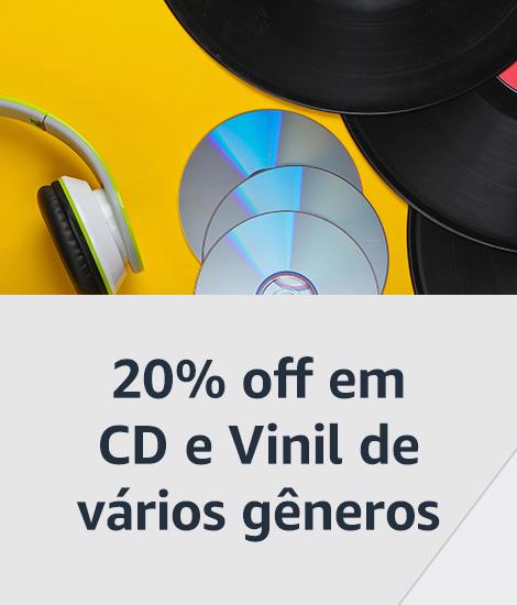 20% off em CD e Vinil de vários gêneros