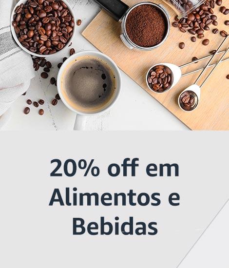20% off em Alimentos e Bebidas