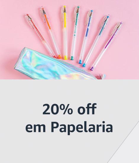 20% off em Papelaria