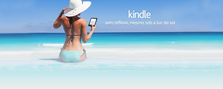 Kindle: Sem reflexo, mesmo sob a luz do sol