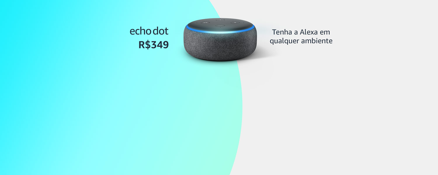 Amazon Echo dot por R$349