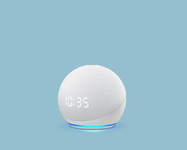 Echo Dot com relógio: Alexa no seu quarto