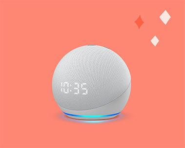 Novo Echo Dot com Relógio: De R$499 por R$349