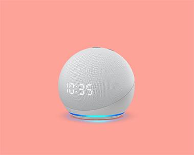 Novo Echo Dot com Relógio: De R$499 por R$399