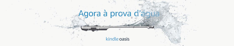 Novo Kindle Oasis: agora à prova d'água
