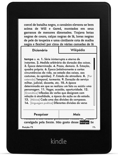Kindle Paperwhite Wi-Fi, iluminação embutida, tela de 6