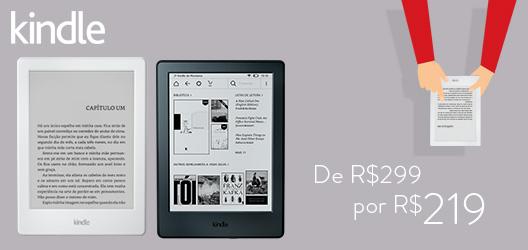 Kindle de R$299 por R$219