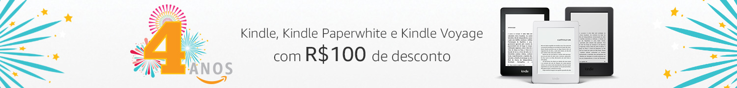 Kindle, Kindle Paperwhite e Kindle Voyage com R$100 iff