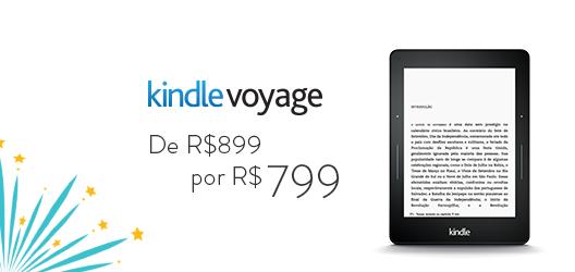 Kindle Voyage de R$899 por R$799