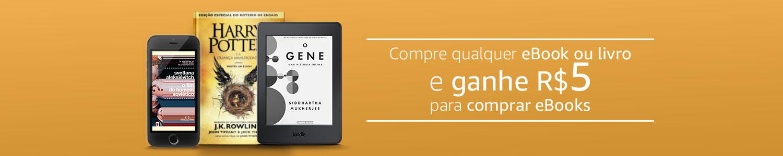 Compre qualquer eBook ou livro e ganhe R$5 para comprar seu próximo eBook