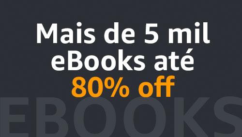 Mais de 5 mil eBooks até 80% off