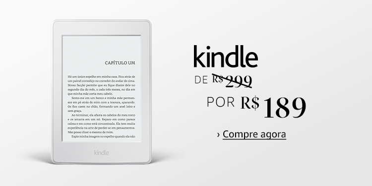 Kindle de R$299 por R$189