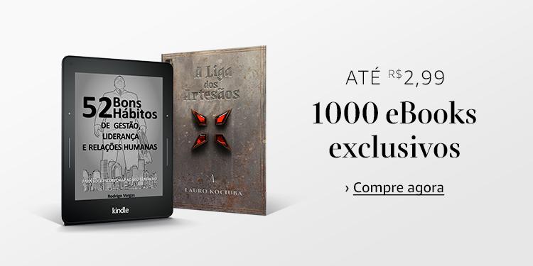Até R$2,99: 1000 eBooks exclusivos