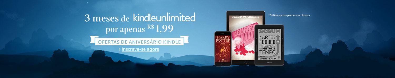 3 meses de Kindle Unlimited por apenas R$1,99