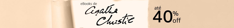 eBooks de Agatha Christie até 40% off. Compre agora