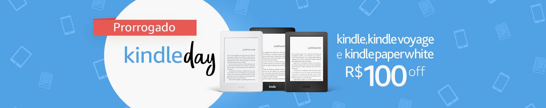 O Kindle Day. Aproveite 100 reais de desconto