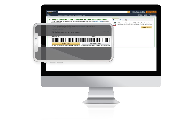 Escaneie o código utilizando o aplicativo do seu banco no celular.