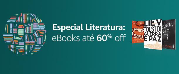 Especial Literatura: eBooks até 60% off