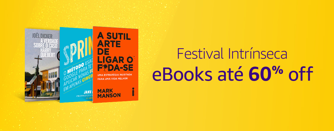 Festival Intrínseca: eBooks até 60% off