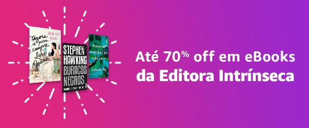 Até 70% off em eBooks da Editora Intrínseca