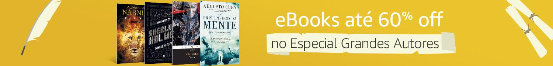 eBooks até 60% off no Especial Grandes Autores