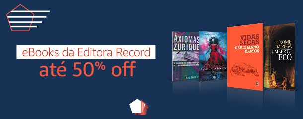 eBooks da Editora Record até 50% off