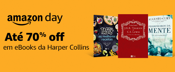 Harper Collins: eBooks até 70% off | Amazon Day
