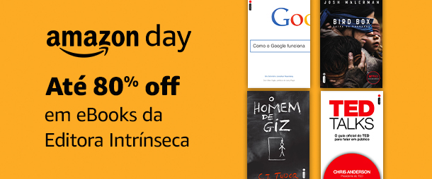 Editora Intrínseca: eBooks até 80% off | Amazon Day