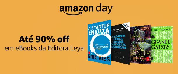 eBooks Editora Leya até 90% off no Amazon Day