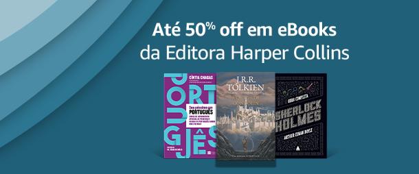 Até 50% off em eBooks da Editora Harper Collins