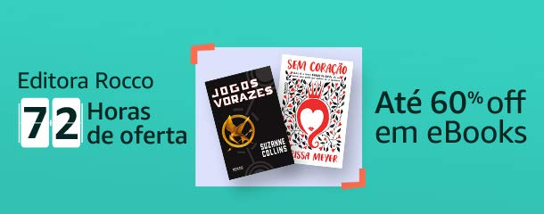 72h de ofertas Editora Rocco eBooks até 60% off