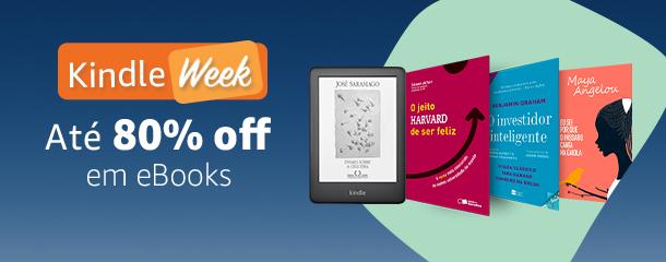 Kindle Week: Até 80% off em eBooks