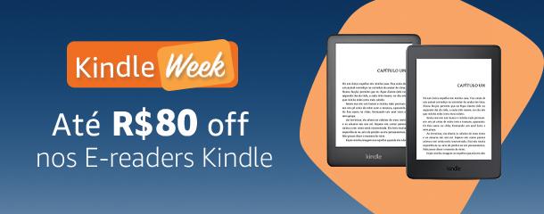 Até R$80 off nos E-readers Kindle