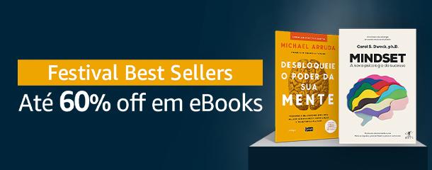 Festival de Best Sellers: eBooks até 60% off