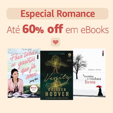 Até 60% off em eBooks de Romance