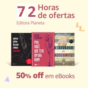 50% off em eBooks da editora Planeta