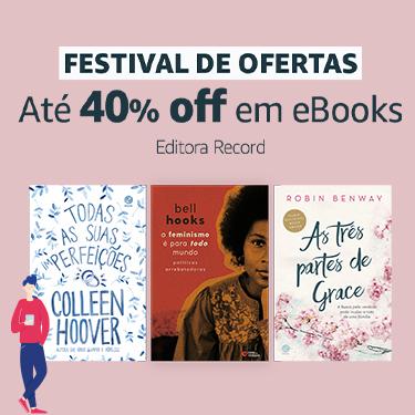 Até 40% off em eBooks da editora Record