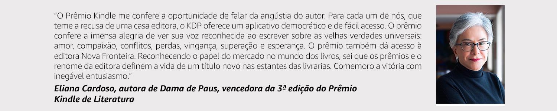 Eliana Cardoso - Vencedora da 3ª edição do Prêmio Kindle de Literatura