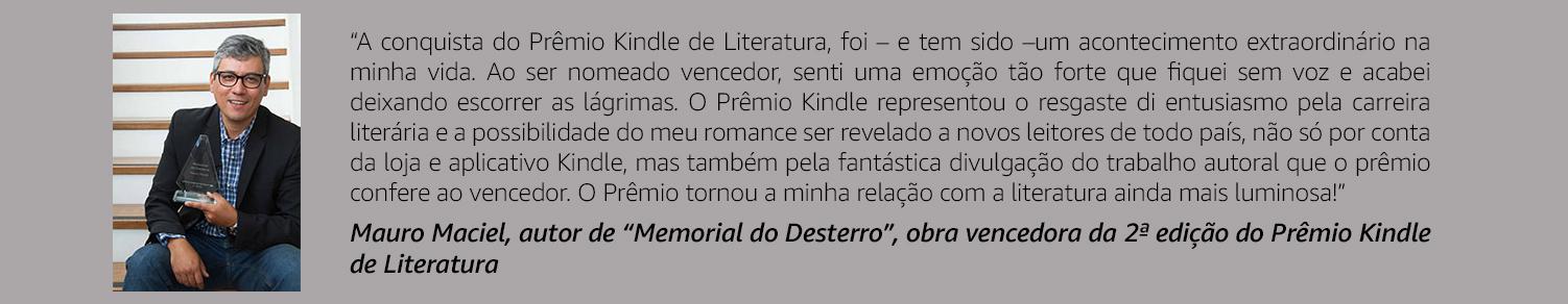 Mauro Maciel - Vencedor da 2ª edição do Prêmio Kindle de Literatura