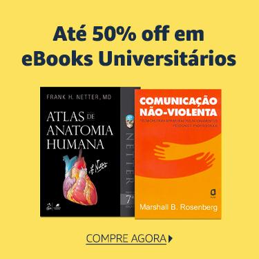 Até 50% off em eBooks Universitários