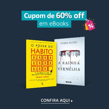 cupom de 60% em ebooks