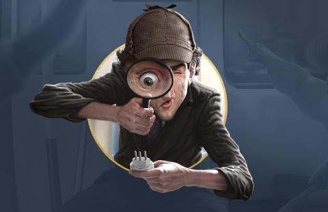 Sherlock investiga o mistério da tomada de três pinos