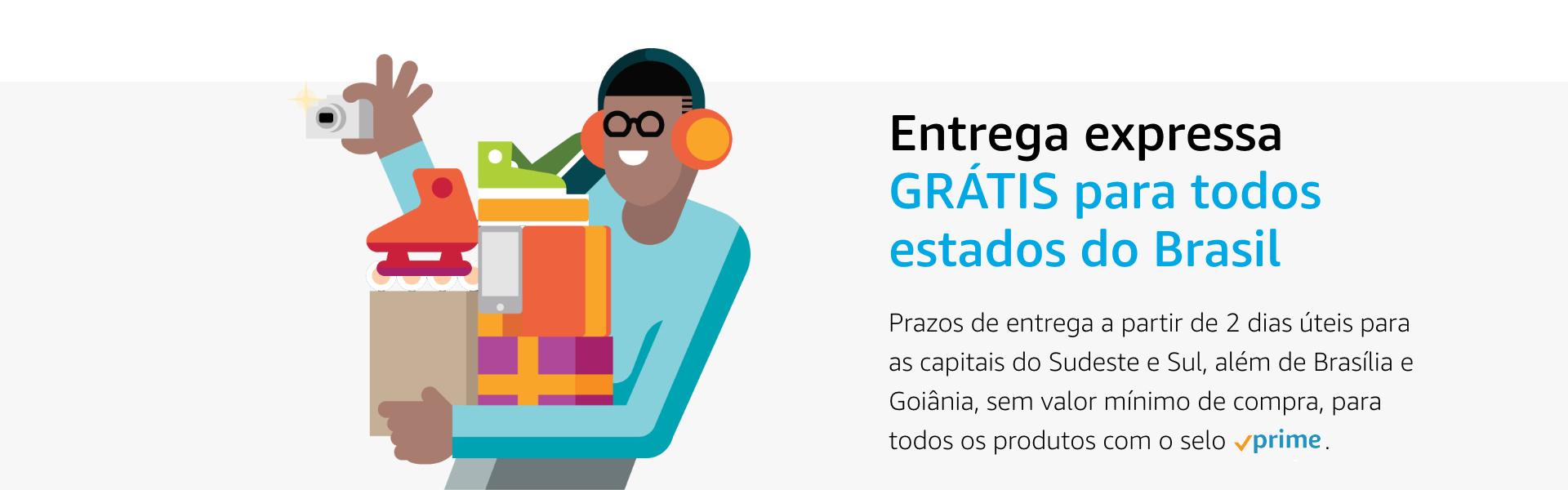 Entrega expressa grátis para todo Brasil