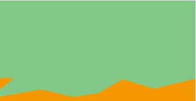 Gráfico de área con tendencia hacia arriba en verde y naranja
